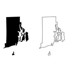 rhode island map vector image
