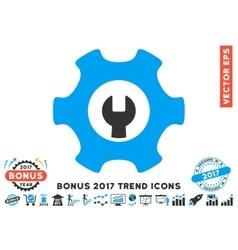 Service Tools Flat Icon With 2017 Bonus Trend vector