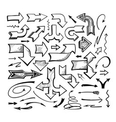 Set of comic arrows doodle vector