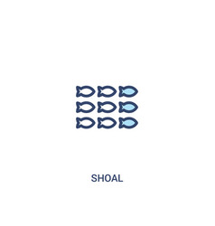 Shoal concept 2 colored icon simple line element vector