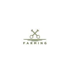 Shovel logo for agriculture industrial farming vector