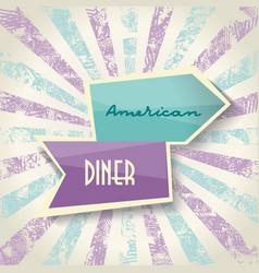 sign design for cafe restaurant vector image