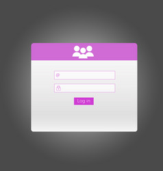 Sign in interface login form vector