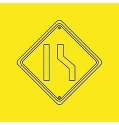 signal traffic yellow icon graphic vector image