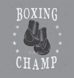sports boxing labelemblem vector image