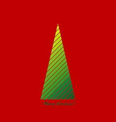 Stylized Christmas tree vector image