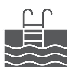swimming pool glyph icon diving and underwater vector image