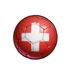 Swiss flag football - soccer ball vector