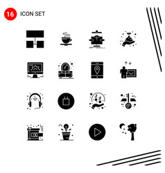 Universal icon symbols group 16 modern solid vector