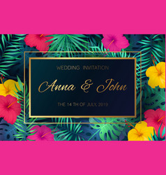 Wedding event invitation card poster marriage vector