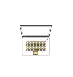 netbook computer symbol vector image