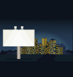 night cityscape background with buildings sky vector image