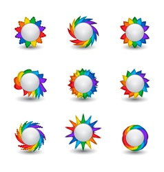 Rainbow buttons vector image vector image