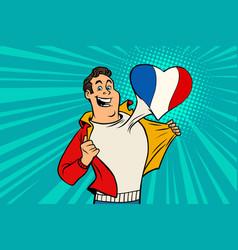 sports fan loves france vector image vector image