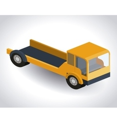 truck isometric design vector image vector image