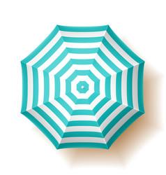 Beach umbrella top view vector