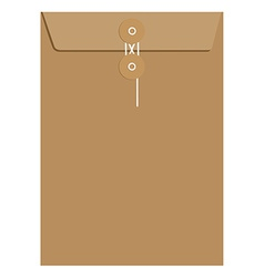 Brown sealed envelope vector image vector image