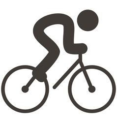 cycling icon vector image