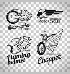motorcycle race logo on transparent background vector image vector image
