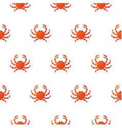 red crab cartoon pattern vector image