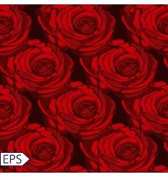 seamless vintage rose flower pattern vector image