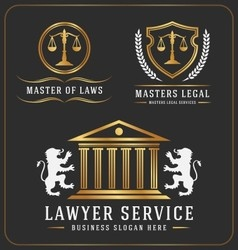 Set of lawyer service office logo template design vector