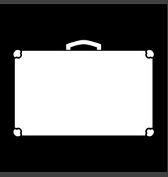 suitcase white color icon vector image