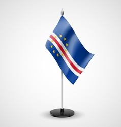 Table flag of cape verde vector