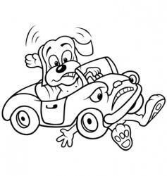 dog and car crash vector image
