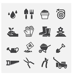 gardening icon vector image vector image