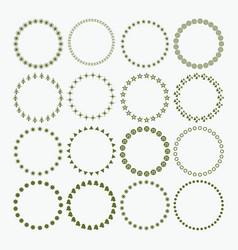 Set of circle border signs and symbols emblem set vector