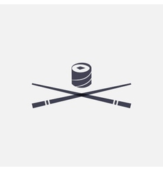 Sushi and chopsticks icon vector image