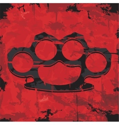Brass knuckles design Apparel print vector image vector image