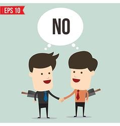 Cartoon business man disgreement - - EPS10 vector image vector image
