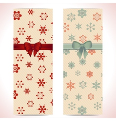Christmas banner backgrounds and ribbon vector image vector image