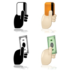 Payment options vector image