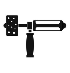 precision grinding machine icon simple vector image