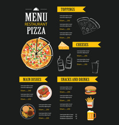 restaurant cafe menu template flat design vector image vector image