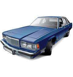 vintage american full-size luxury sedan vector image vector image