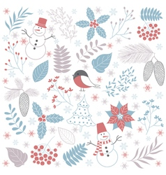 Winter Time Set vector image