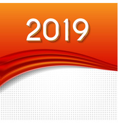 2019 abstract of new year on vector