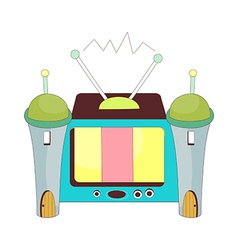 A view of television vector image