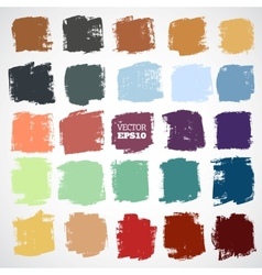 Abstract hand-painted square backgrounds vector