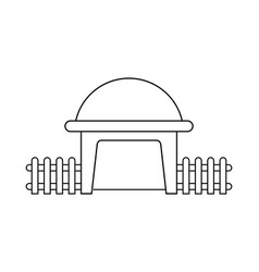 Abstract outline drawing modern dome house shaped vector