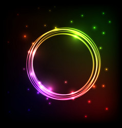 abstract plasma background with colorful circles vector image
