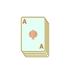 Ace of spades playing cards icon cartoon style vector