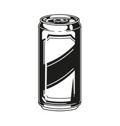 Aluminum can beer vector