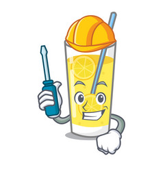Automotive lemonade mascot cartoon style vector