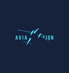 Aviation logo vector