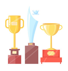awards for sport achievements isolated on white vector image